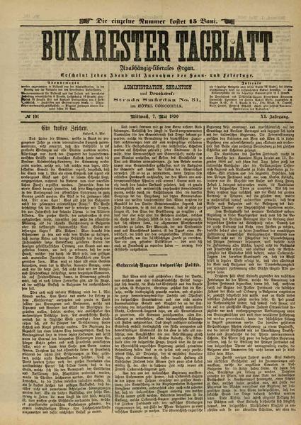 File:Bukarester Tagblatt 1890-05-07, nr. 101.pdf