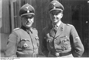 Franz Augsberger - Augsberger (left) with Fritz Klingenberg