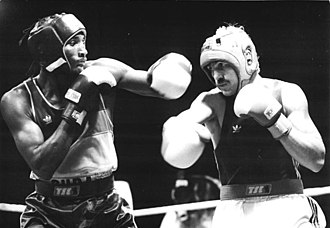 Juan Carlos Lemus - Juan Carlos Lemus (left) facing Siegfried Mehnert at the 1989 World Amateur Boxing Championships in Moscow