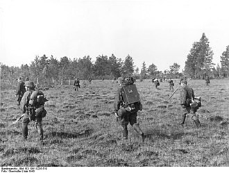 8th SS Cavalry Division Florian Geyer - SS Cavalry Division on an Bandenbekämpfung sweep, May 1943