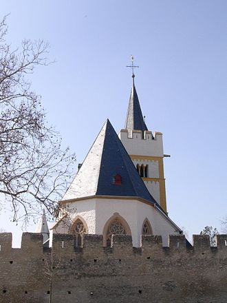 "Ingelheim am Rhein - Burgkirche – ""Castle Church"" – the town's landmark"