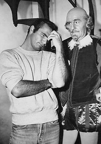 "The Bard (The Twilight Zone) - Burt Reynolds and John Williams in a scene from ""The Bard""."