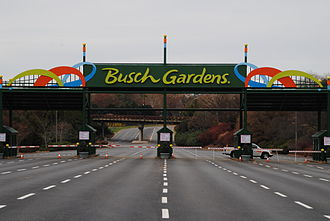 Busch Gardens Williamsburg - Main Gate of Busch Gardens Williamsburg In 2014