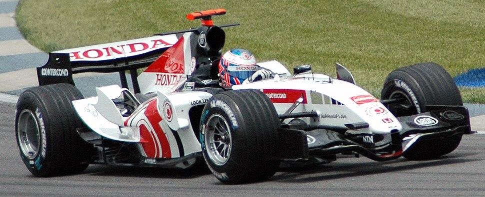 Button (BAR) qualifying at USGP 2005