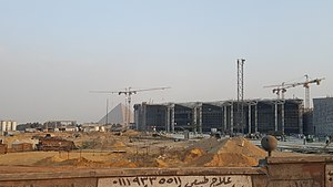 Grand Egyptian Museum - The museum under construction, October 2017