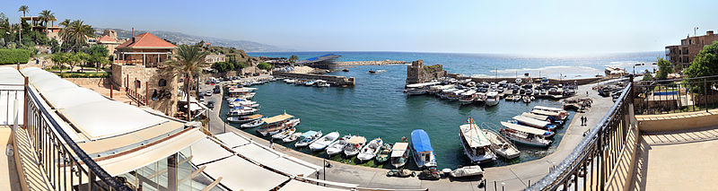 A panoramic photo of Byblos Port.[1]