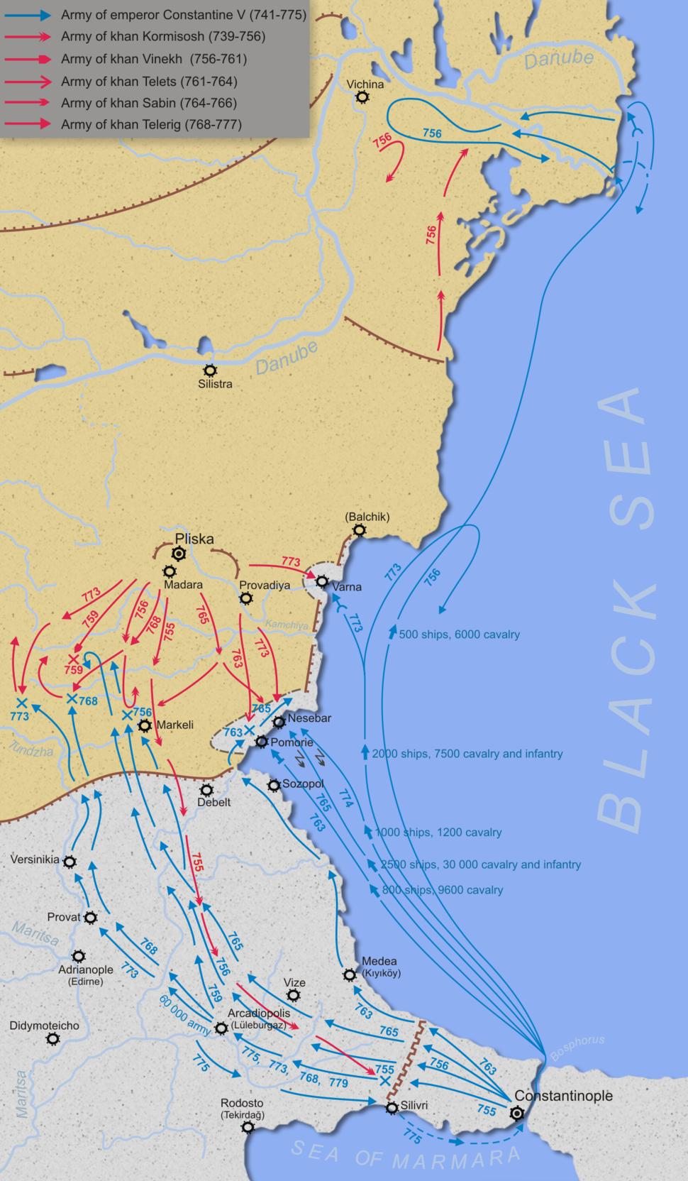 Byzantine–Bulgarian Wars (741-775)