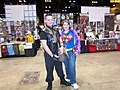 C2E2 (Day 2) 2014, Hawkeye and Superwoman.jpg