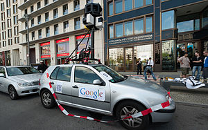 Mockup - Google Street View mockup in Freiheit statt Angst demonstration, Berlin, September 11, 2010