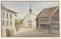 CH-NB - Laupen, Pfarrhaus und Kirche - Collection Gugelmann - GS-GUGE-WEIBEL-D-73.tif