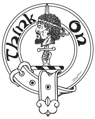 Blackamoor (decorative arts) - The Scottish crest badge of Clan MacLellan featuring the head of Black Morrow.
