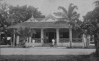 Social club - Sociëteit in Palembang, Sumatra