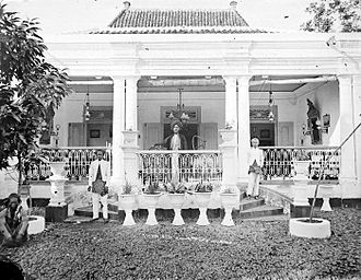 "Pekalongan - A large residence in Pekalongan used by the ""Captain of The Arabs"""