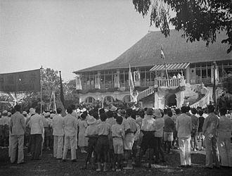 Sultan Mahmud Badaruddin II Museum - The huis of the Resident in Palembang during the jubileum of Queen Wilhelmina.