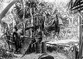 COLLECTIE TROPENMUSEUM Sagobereiding bij Loloda Halmahera Noord-Molukken TMnr 10011504.jpg