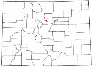 Central City/Black Hawk Historic District - Location of the Central City/Black Hawk National Historic District