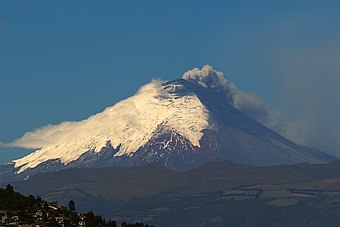 A view of the Cotopaxi volcano, in Cotopaxi Province COTOPAXI 18 AGO (20496040638).jpg