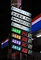 CPCCT Wenling Road Station fuel price sign 20110313.jpg
