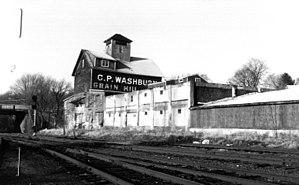C.P. Washburn Grain Mill - c. 1985 photo