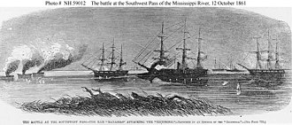 Battle of the Head of Passes - Image: CSS Manassas attacks Richmond