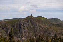 Cabot Tower, St. John's, Newfoundland, South facing side.jpg