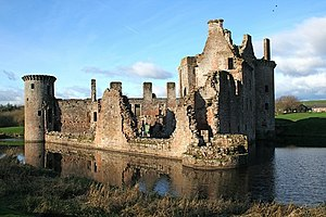 English: Caerlaverock Castle Romantic scottish...