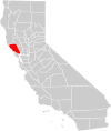 California county map (Sonoma County highlighted).svg