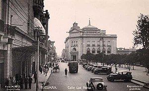 Tucumán Province - Downtown Tucumán in the 1920s