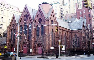 Calvary Church (Manhattan) - The church as it appears today (2011); part of Calvary House can be seen on the right