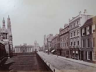 King's Parade - Historical photograph showing shops on the east side of King's Parade.