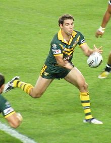 Cameron Smith Pes During A Rugby League Match
