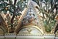 Camillo mantovano, volta della sala a fogliami di palazzo grimani, 1560-65 ca., lunette con grottesche e rebus allusivi al processo per eresia di giovanni grimani 07.jpg