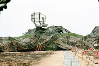 601st Tactical Control Wing - Camouflaged AN/TPS-43 radar