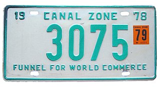 Vehicle registration plates of the Canal Zone Canal Zone vehicle license plates