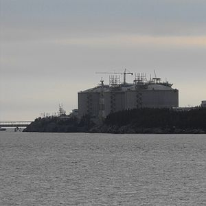 English: Canaport LNG Terminal nearing complet...