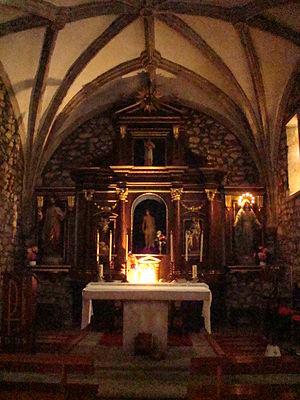 Garabandal apparitions - Altar of the Parochial church of Garabandal village.