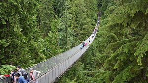 Capilano Suspension Bridge - The Capilano Suspension Bridge in July 2016.