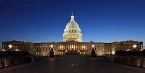 United States Capitol - The Capitol at night (2013 view)