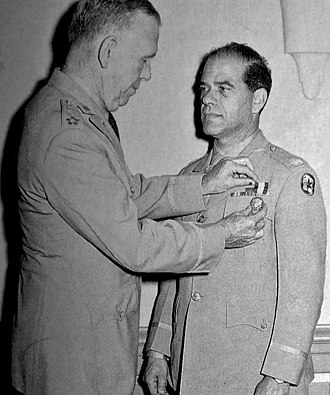 Frank Capra - Receiving The Distinguished Service Medal from General George C. Marshall, 1945