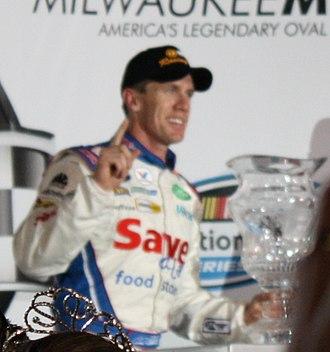 2009 NASCAR Nationwide Series - Carl Edwards after winning the 2009 NorthernTool.com