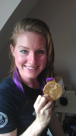 Caroline Lind - Lind with her gold medal from the 2012 Olympics.