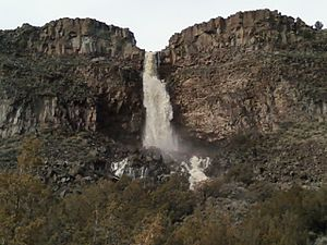 Carson, New Mexico - A seasonal wet-weather waterfall near Carson