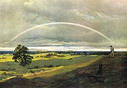 Caspar David Friedrich: Landscape On Rügen With Rainbow