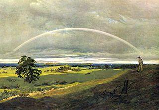 Paysage avec arc-en-ciel