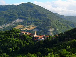 The village of Castello di Casola in Terenzo