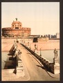 Castle and bridge of St. Angelo, Rome, Italy-LCCN2001700934.tif