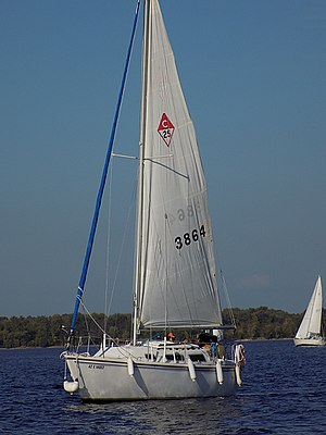 Catalina 25 - Catalina 25 with jib roller furled.