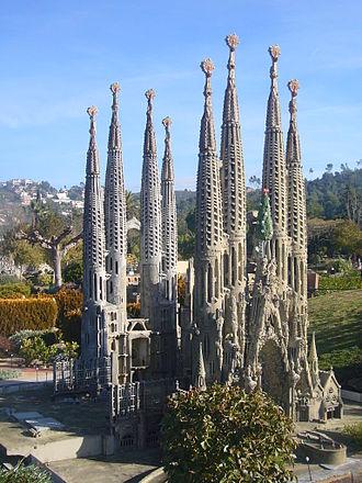 Catalunya en Miniatura - Model of the Sagrada Família temple at Catalunya en Miniatura