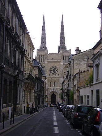 Bordeaux Cathedral - The north front of the cathedral