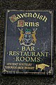 Cavendish Arms (sign), Cartmel, Cumbria.jpg